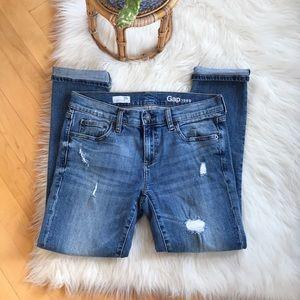 GAP Jeans - GAP slightly distressed girlfriend jeans